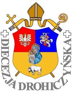 Herb Diecezji - z napisem - W. Żyngiel