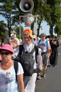 Grupa sokołowska- siostra zakonna pozdrawia pielgrzymów