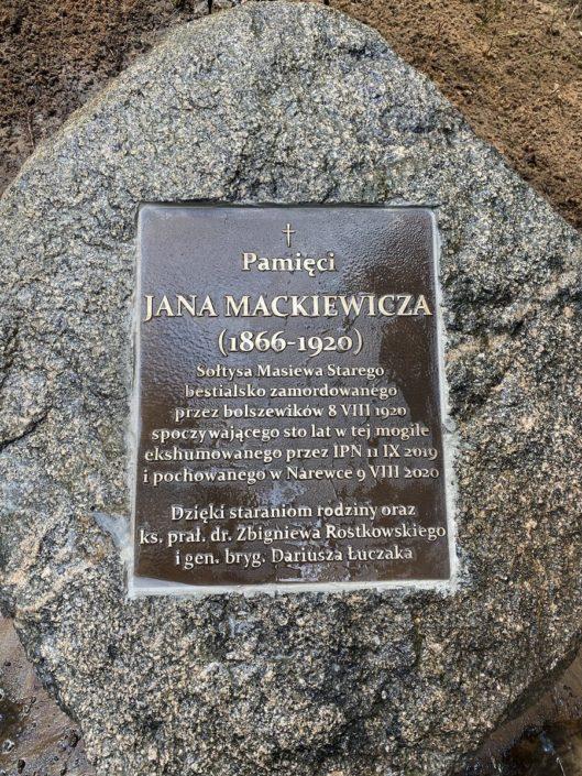 Uroczystość upamiętniająca Sołtysa wsi Masiewo Stare Jana Mackiewicza_Narewka_23.05.2021