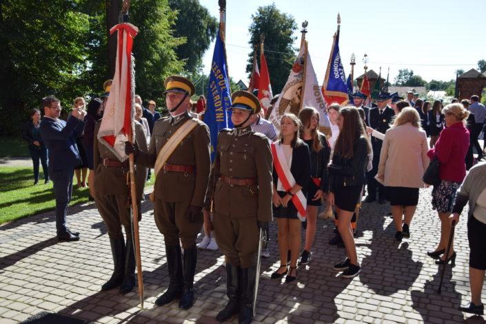 Poświęcenie pomnika nagrobnego ułana Michała Demideckiego-Demidowicza_Zembrów_5.09.2021